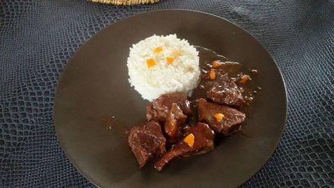 recette rôti de porc sauce clémentine ( remplacer par un sauté de porc) Laurence Le Saint