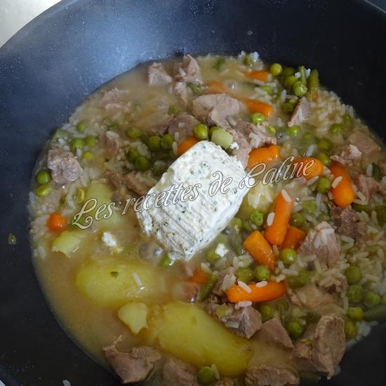 Sauté de dinde et son riz aux légumes sauce au boursin14