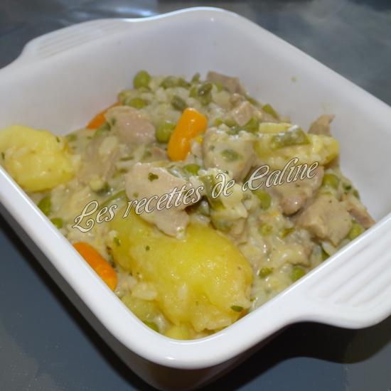 Sauté de dinde et son riz aux légumes sauce au boursin17