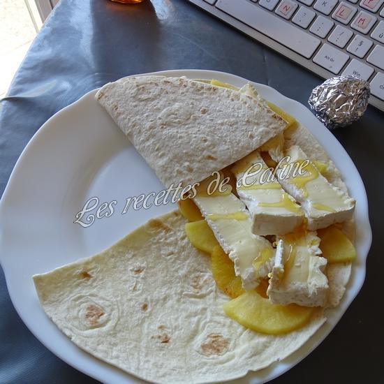 Wraps aux pommes, miel et camembert16