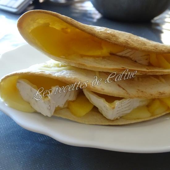Wraps aux pommes, miel et camembert22