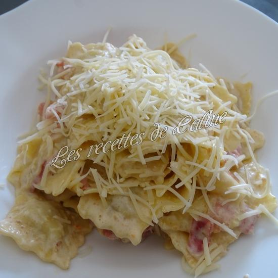 Raviolis crémeux à la pancetta11
