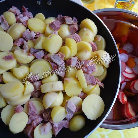 Salade tiède de jambonneau aux pommes de terre10