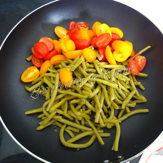 Nouilles sautées aux haricots verts et tomates04
