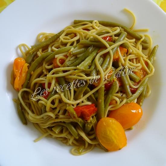 Nouilles sautées aux haricots verts et tomates12
