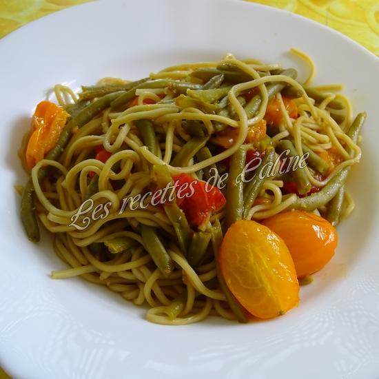 Nouilles sautées aux haricots verts et tomates13