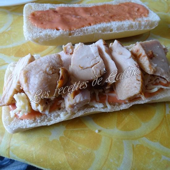 Panini à l'émincé de poulet et sa sauce12