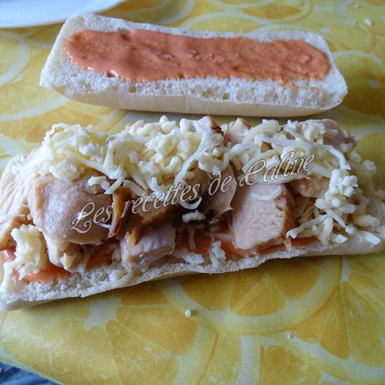 Panini à l'émincé de poulet et sa sauce13