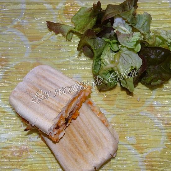 Panini à l'émincé de poulet et sa sauce18