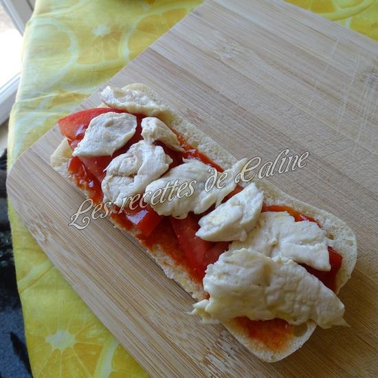 Panini au poulet et fromages13