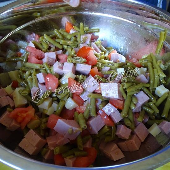 Salade de haricots verts et cervelas10