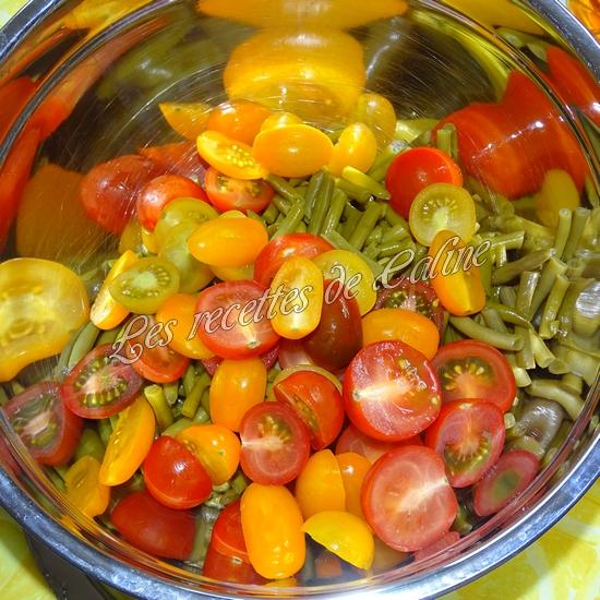 Salade de haricots verts et tomates cerises05
