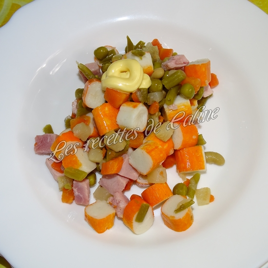 Salade printanière au jambon11