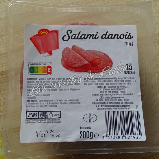 Bagel à la pomme et salami07