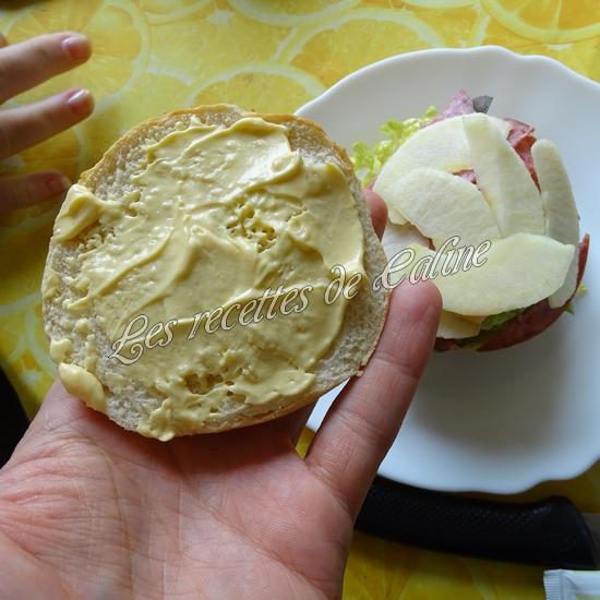Bagel à la pomme et salami12