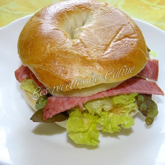 Bagel à la pomme et salami15