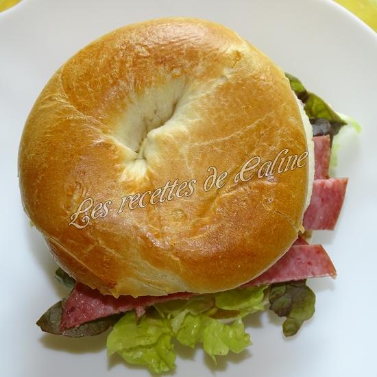 Bagel à la pomme et salami16