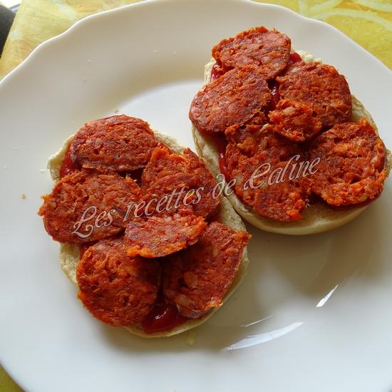 Bagels pizza au chorizo05