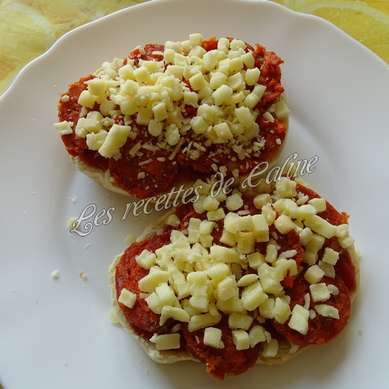 Bagels pizza au chorizo06