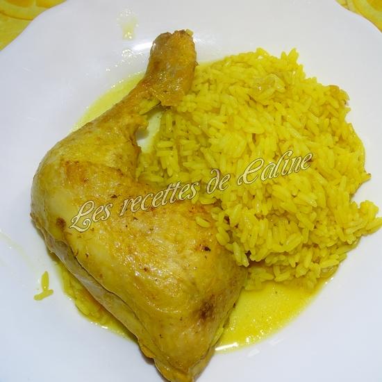 Cuisse de poulet au riz safrané20