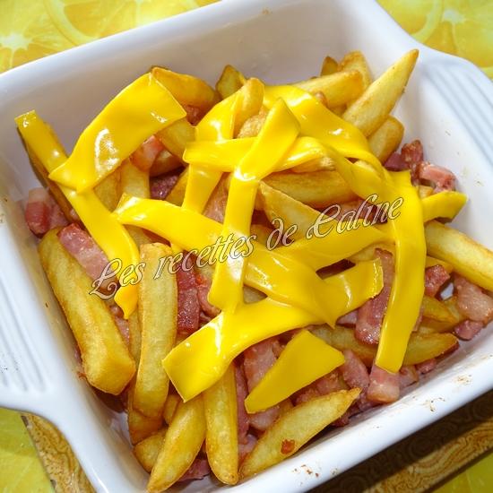 Frites de pommes de terre au fromage et lard façon Burger King07