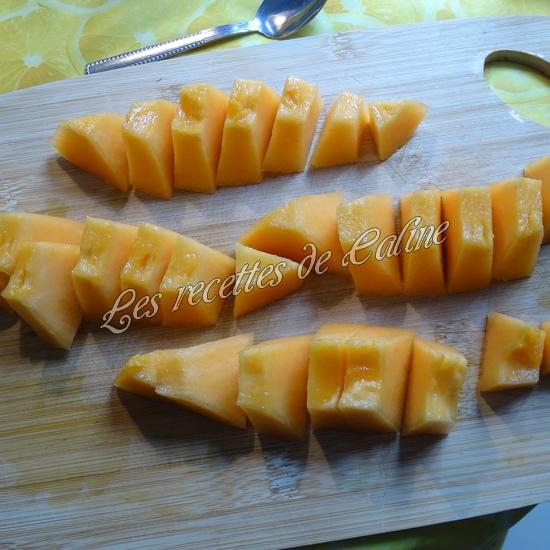 Salade melon, framboises et magret de canard11