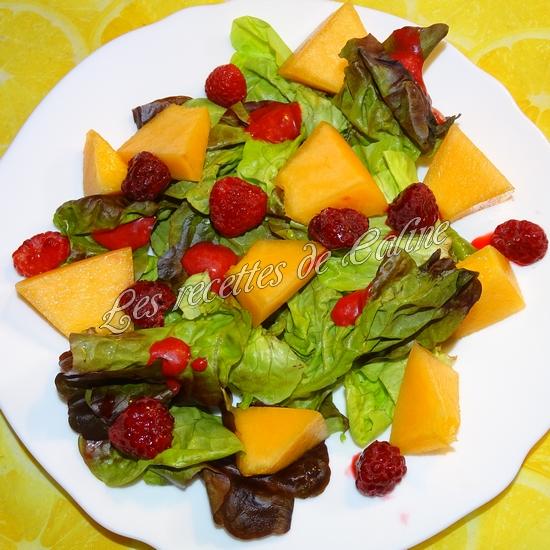 Salade melon, framboises et magret de canard14