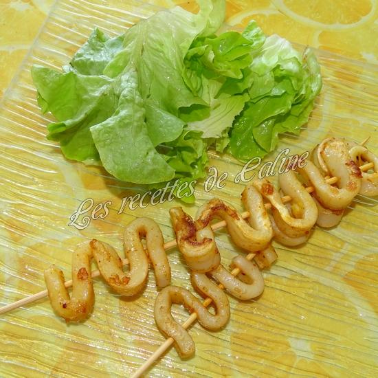 Brochettes de calamars grillés au citron16