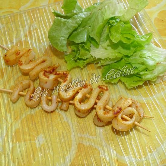 Brochettes de calamars grillés au citron17
