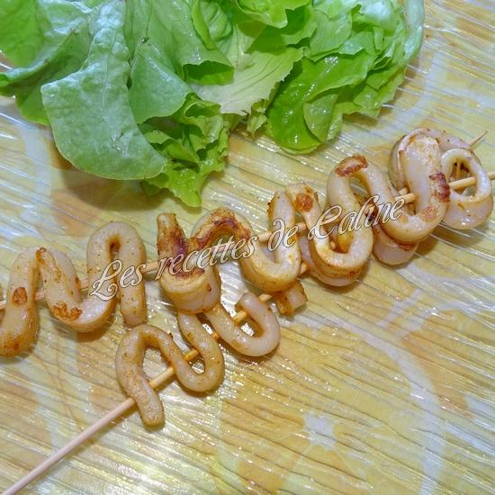 Brochettes de calamars grillés au citron18