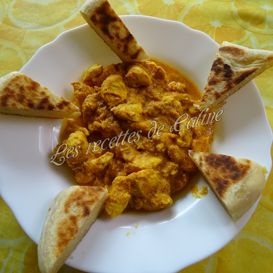 Cheese naan au fromage à tartiner et son curry de poulet51