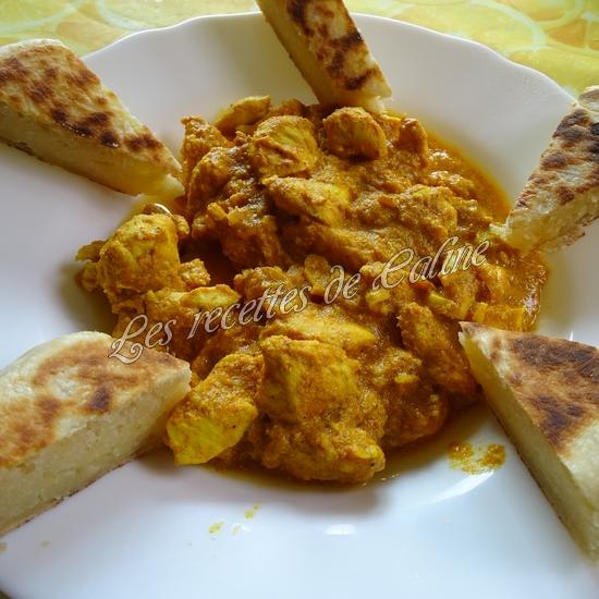 Cheese naan au fromage à tartiner et son curry de poulet52
