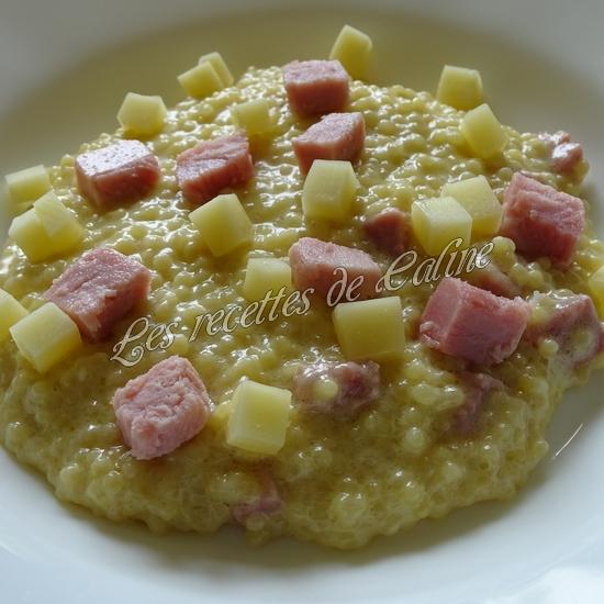Risotto de perles de blé au jambon21