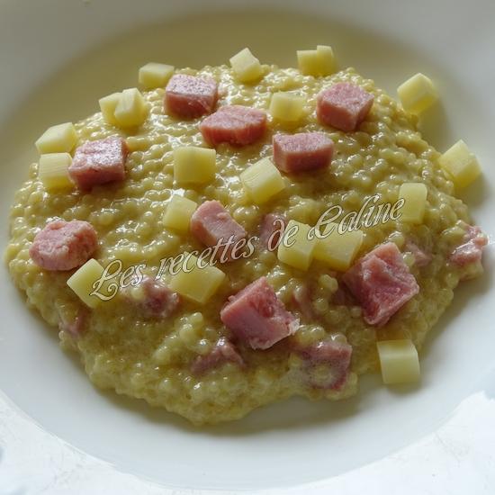 Risotto de perles de blé au jambon22