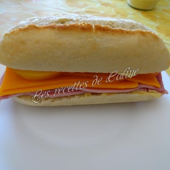 Sandwich jambon mimolette crudités11