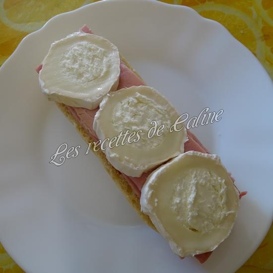 Sandwich jambon mimolette crudités16
