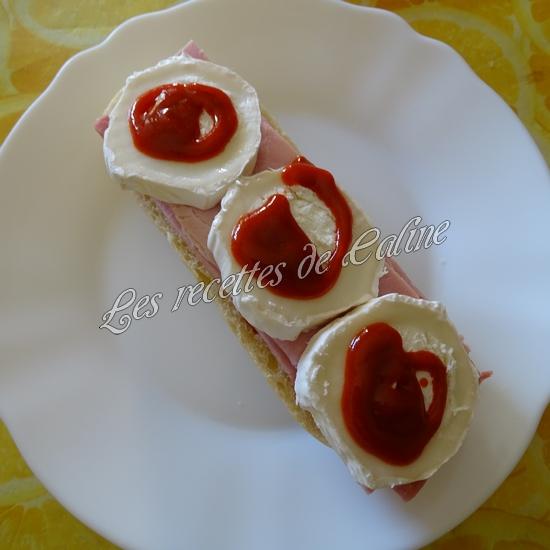 Sandwich jambon mimolette crudités17