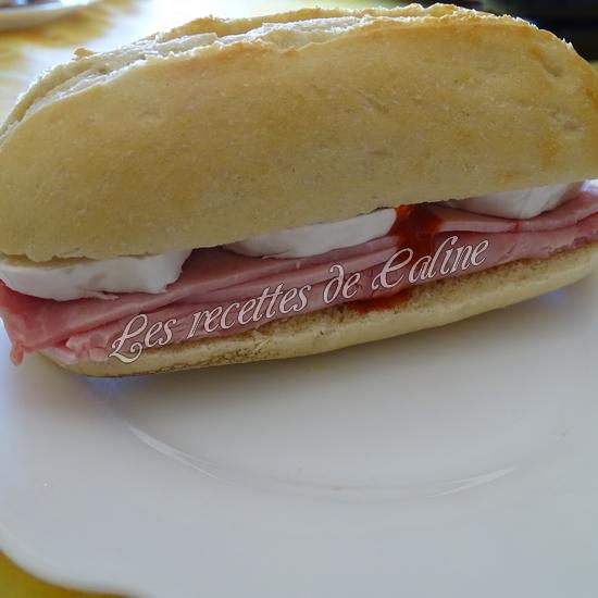 Sandwich jambon mimolette crudités19