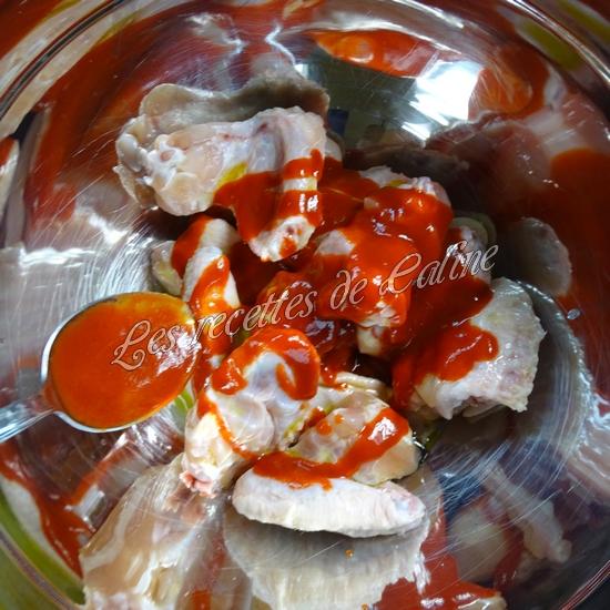 Wings marinés à la sauce Sriracha11