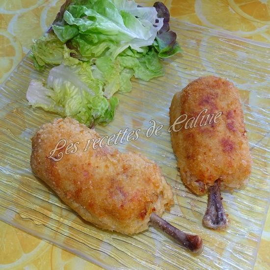 Pilon de poulet pané farcie à la pomme de terre et fromage46