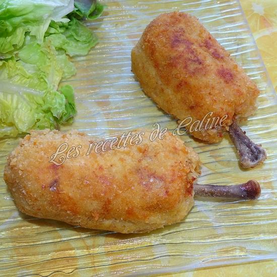 Pilon de poulet pané farcie à la pomme de terre et fromage48
