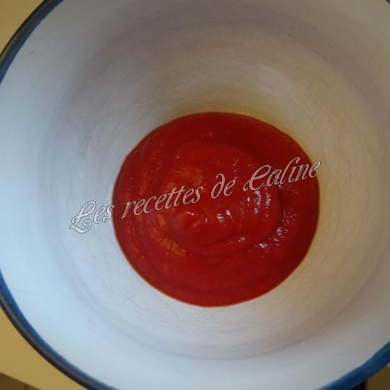 Rouelle de porc en cocotte et ses petits légumes et coulis de tomate05