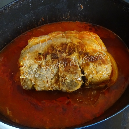 Rouelle de porc en cocotte et ses petits légumes et coulis de tomate14