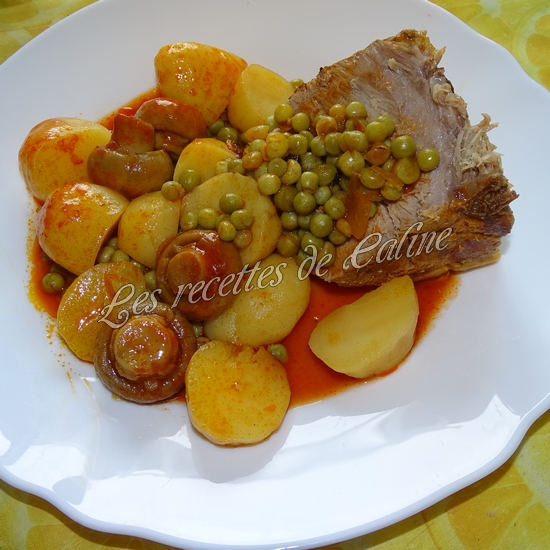 Rouelle de porc en cocotte et ses petits légumes et coulis de tomate20