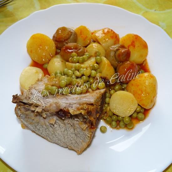 Rouelle de porc en cocotte et ses petits légumes et coulis de tomate21