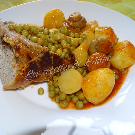 Rouelle de porc en cocotte et ses petits légumes et coulis de tomate22