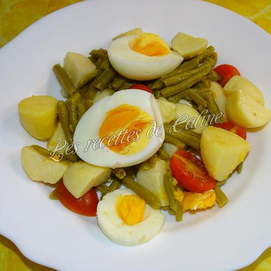 Salade de haricots verts, pommes de terre, tomates et oeufs13